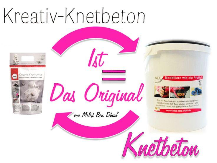 Die Knetbeton Meistermischung Onlineshop www.knetbeton.de. Paypal nicht bequem? Dann kauf es von Rayher bei amazon-de!