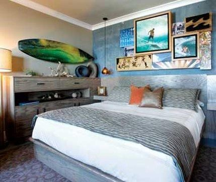 surf room. great idea for a teenage boy room. Teenager Zimmer.