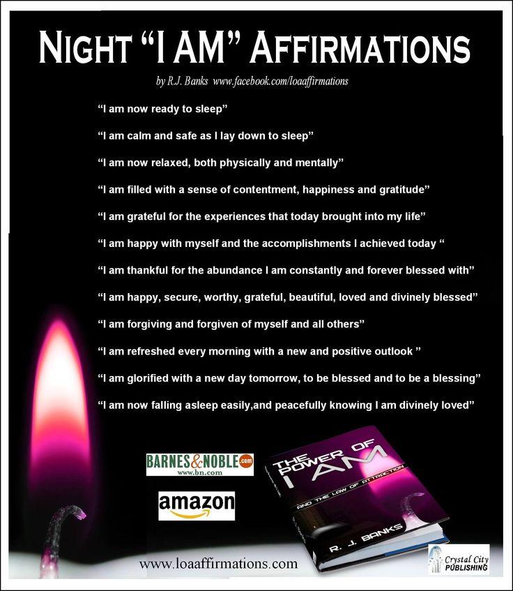 Night I Am Affirmations