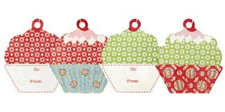 GreenGate Millie patch cupcake gift cards