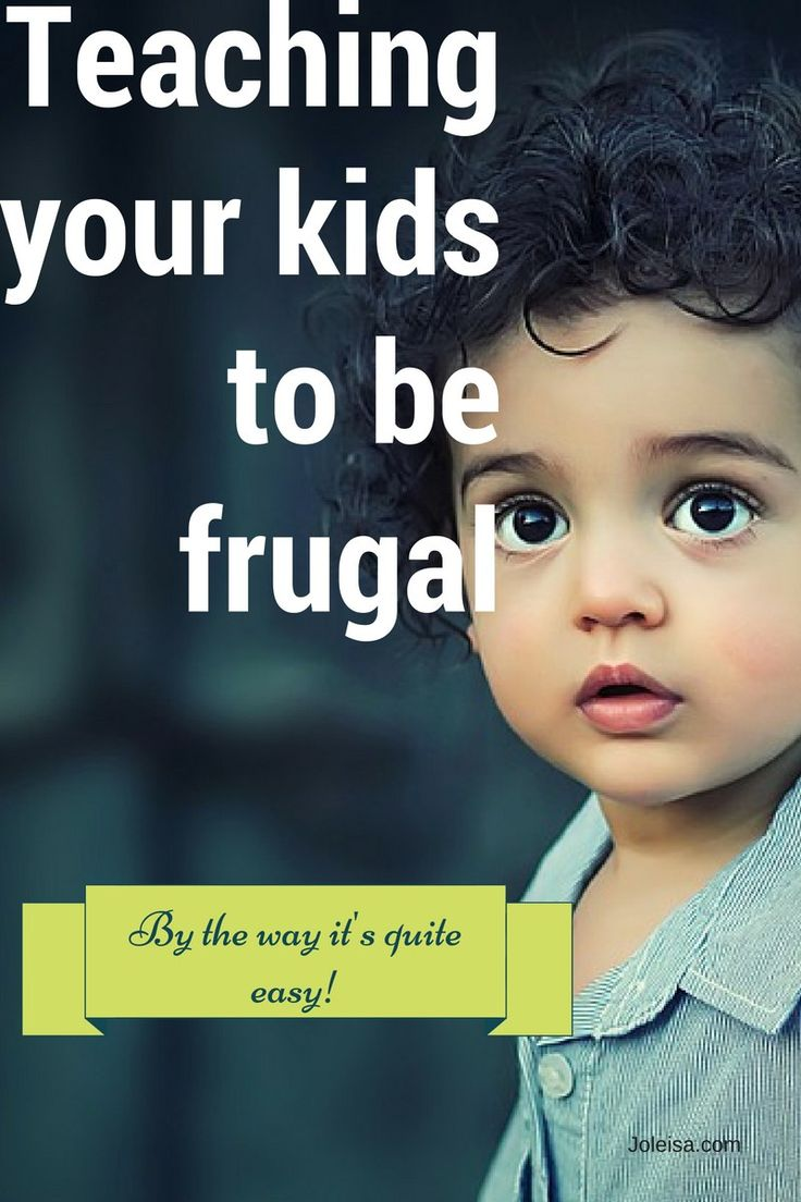 Teaching kids to be frugal