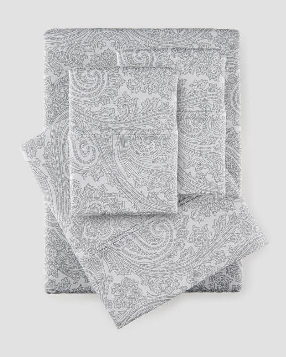 600TC 4 Piece Paisley Sheet Set
