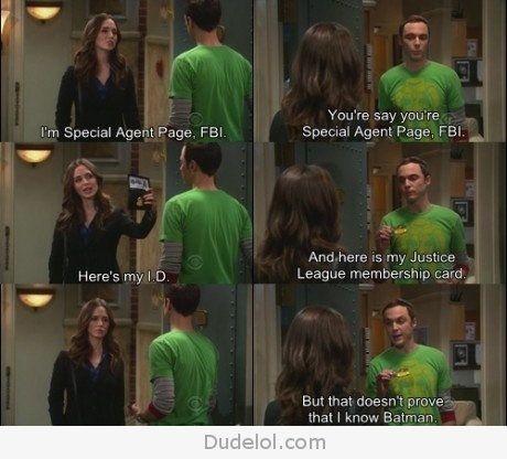 Sheldon Being Sheldon: Geek, Faith, Funny Pictures, Big Bangs Theory, Even, Batman, Hewitt, Justice League, Cards