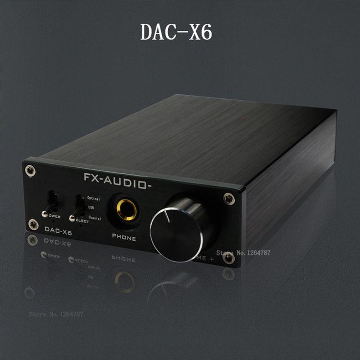 fx-audio feixiang DAC-X6 fever HiFi amp USB Fiber Coaxial Digital Audio Decoder DAC 16BIT / 192 amplifier TPA6120