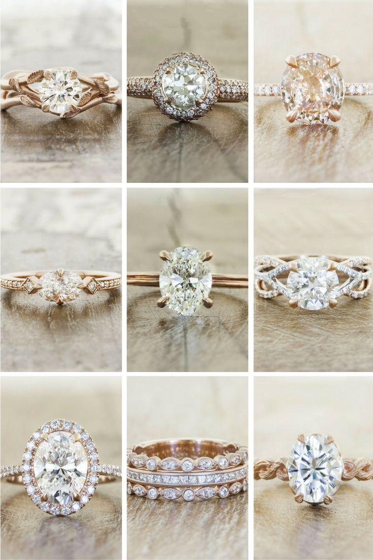 Rose Gold Engagement Rings by Ken & Dana Design.
