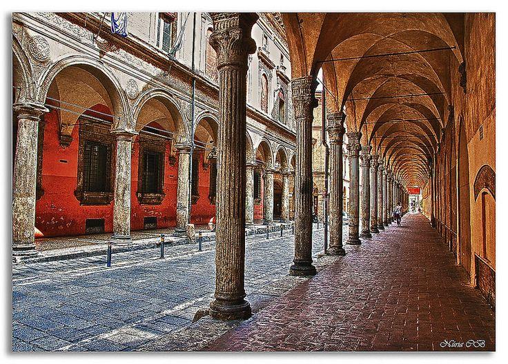 Una calle de Bolonia - Un carrer de Bolonia