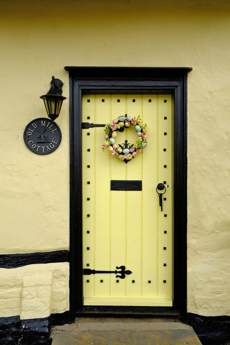 Front door of an old english cottage - Old Mill Cottage Door In Finchingfield Essex England By Steven Stocking On