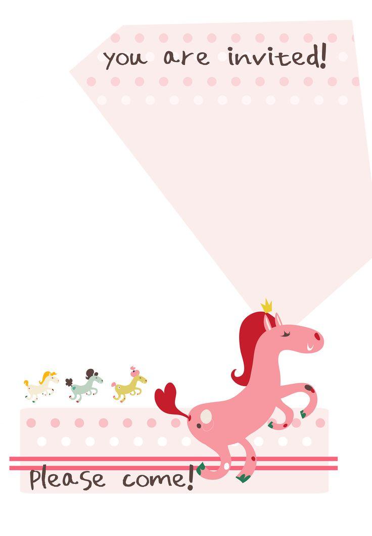 The 25 best free birthday invitation templates ideas on pinterest birthday pony free printable birthday invitation template greetings island stopboris Choice Image