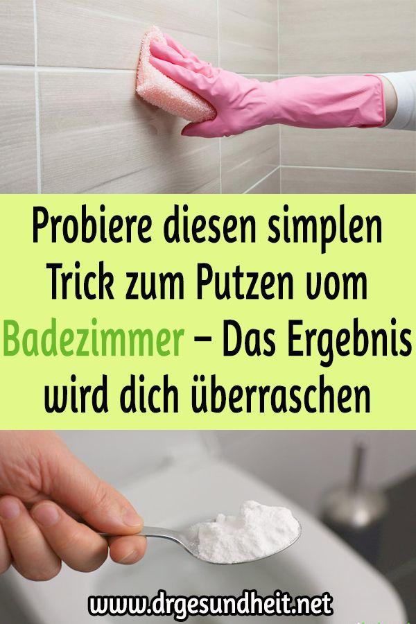 Probiere diesen simplen Trick zum Putzen vom Badez…