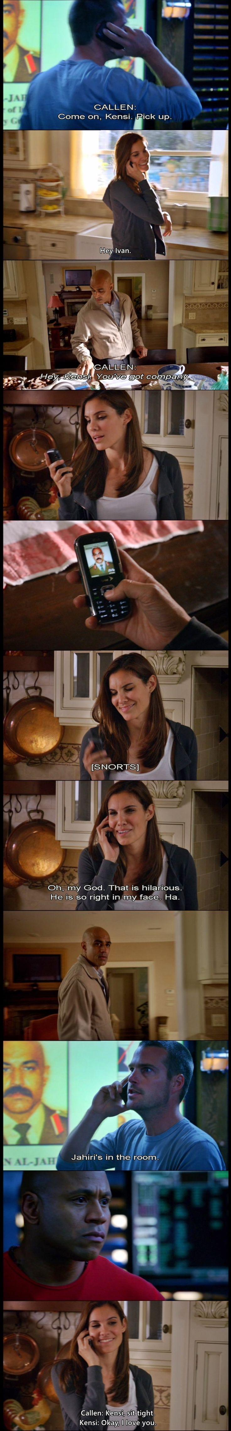 Kensi was SO funny in this scene!!! NCIS LA 1x20.