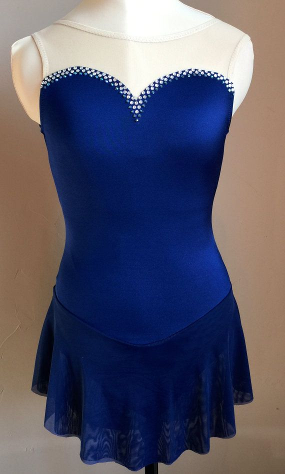 Figure Skating Dress Indigo Blue Ladies by SkatingDressbyKelley