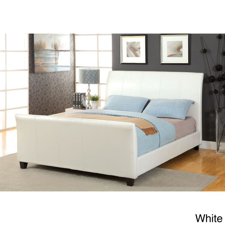 Captivating Furniture Of America Benedicte Modern English Style Leatherette Sleigh Bed    Overstock™ Shopping   Great