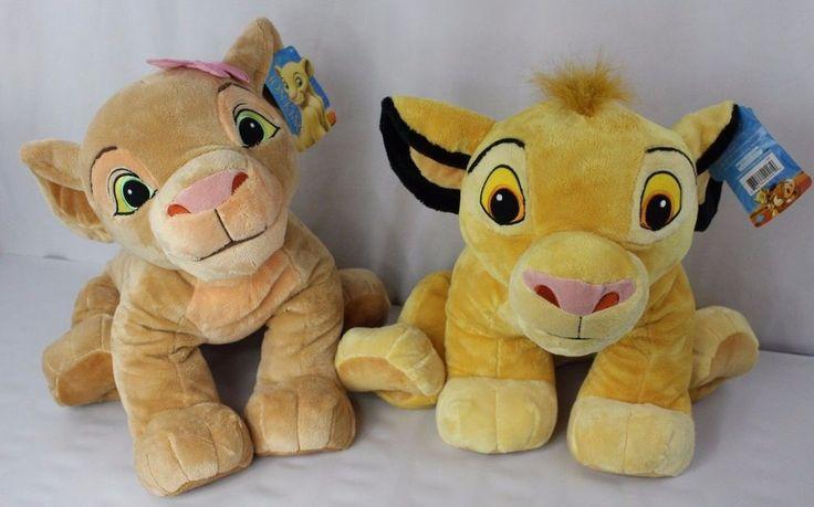 "Disney Lion King Young Simba and Nala Jumbo Large Plush 2011 Just Play 20 - 24"" #Disney"