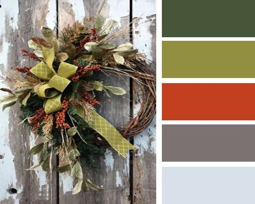 modern interior colors, orange color schemes.  Rust and green to decorating