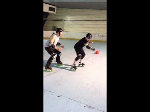 Roller Derby Agility Drill with Sausarge Rolls Skate Coach. - YouTube