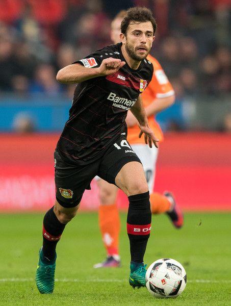Admir Mehmedi of Leverkusen in action during the Bundesliga match between Bayer 04 Leverkusen and SV Darmstadt 98 at BayArena on November 5, 2016 in Leverkusen, Germany.