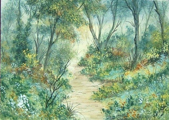 watercolour landscape art painting (ref 049)