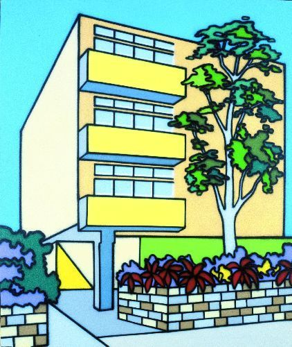 Own Your Own Flats, 1987 - Howard Arkley