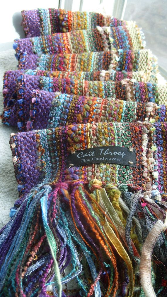 Handwoven Scarf October Morn II by barefootweaver on Etsy
