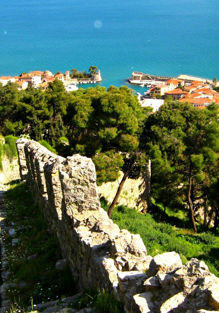 Harbour of Nafpaktos ~ view from the castle