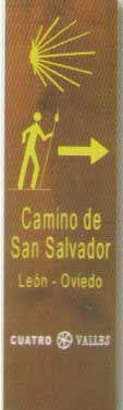 Indicaciones del itinerario del Camino de San Salvador por Léón