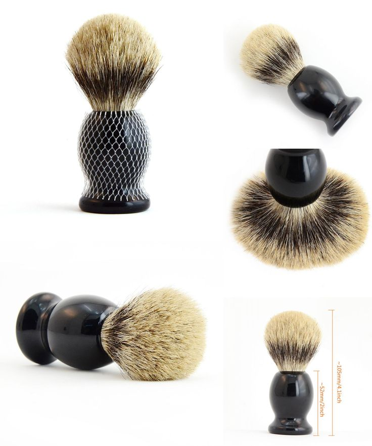 [Visit to Buy] ZY Men Pure Badger Hair Shaving Beard Brush Wood Handle Barber Shave Soap Brush Mini Travel #Advertisement