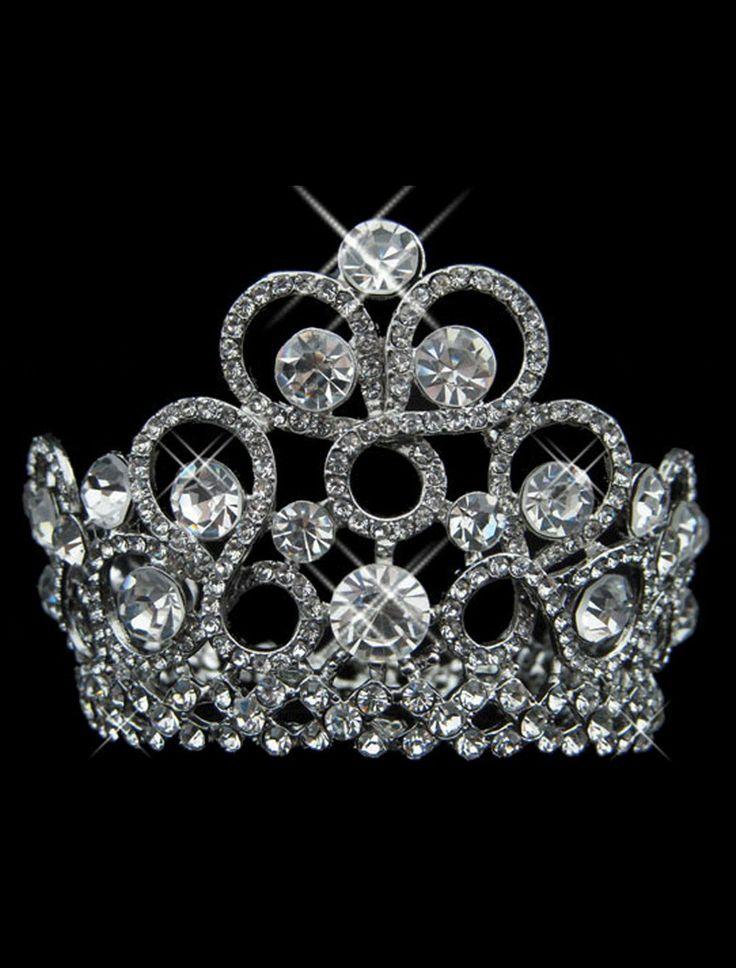 Noble Deluxe Silver Rhinestone Wedding Brides Tiara - Wedding Jewelry - Accessories