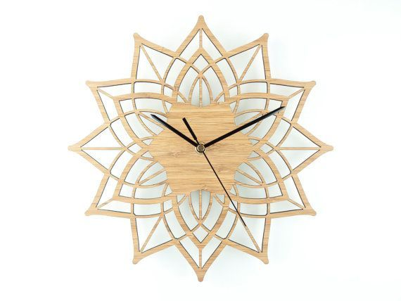 Modern Wall Clock Contemporary Clock Wooden Wall by BeamDesigns