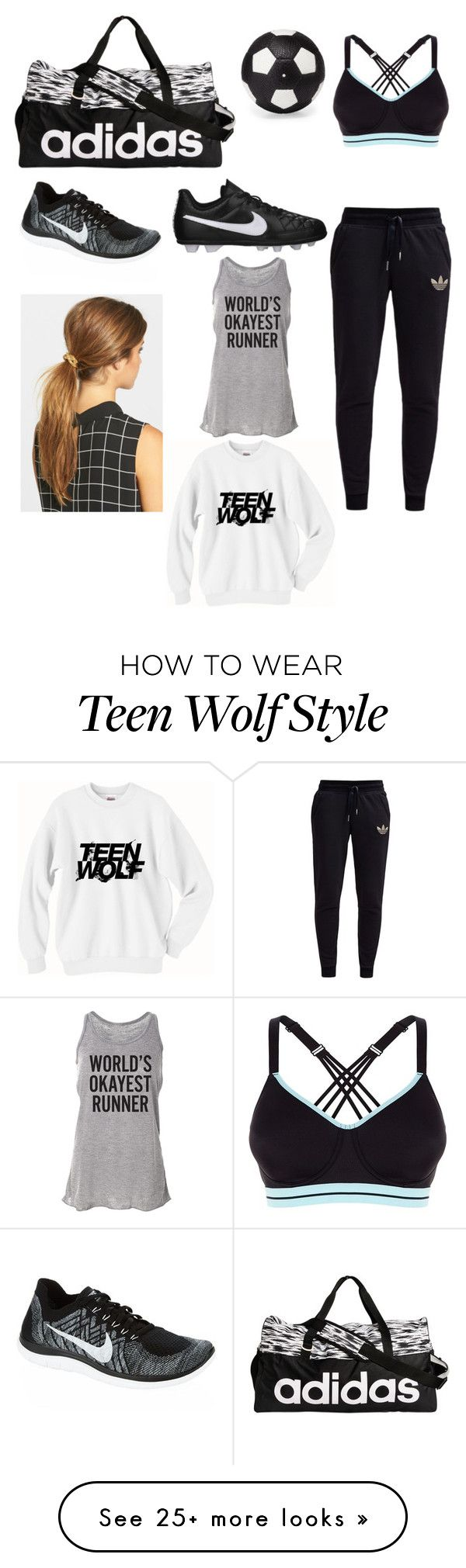 """""""Soccer prps tomorrow"""" by haleyngarcia on Polyvore featuring adidas, NIKE, Ficcare, adidas Originals and Elisabeth Weinstock"""