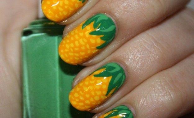 Unghie stile ananas