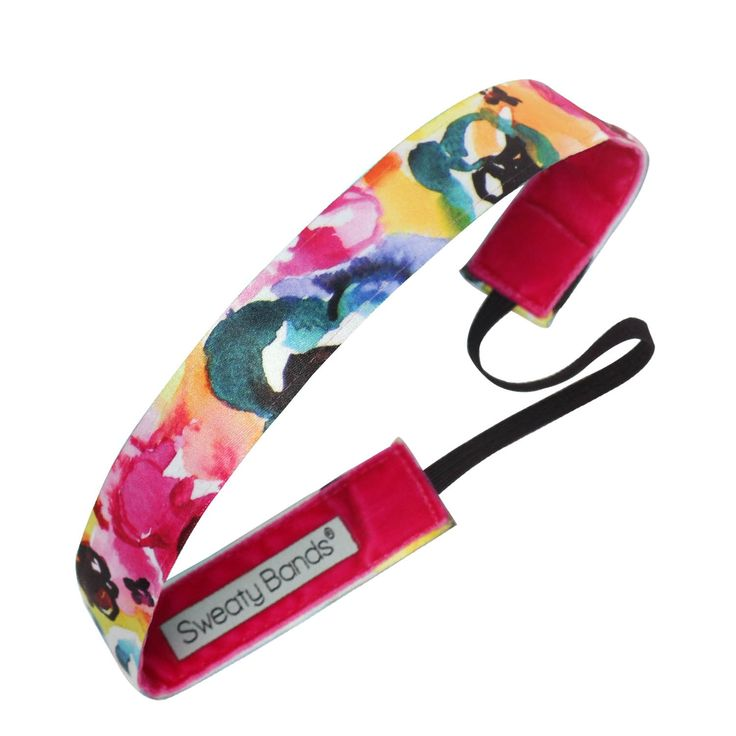 "Sweaty Bands ""Bloomerang"" nonslip workout headband! Love the hand-painted floral print!"