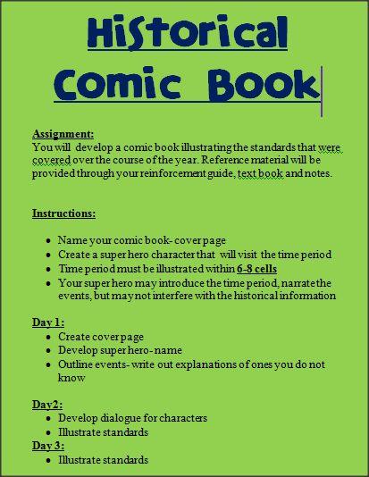 Time period comic strip. Fantastic Fifth Grade!