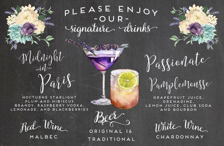 Our bar menu.