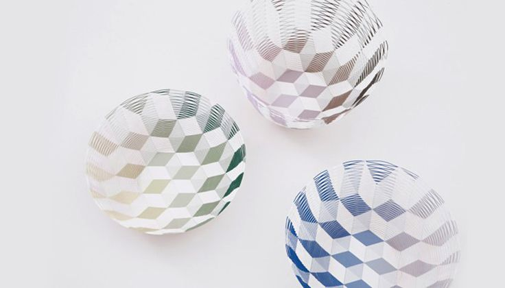 torafu architects: gradation + cubed pattern airvases