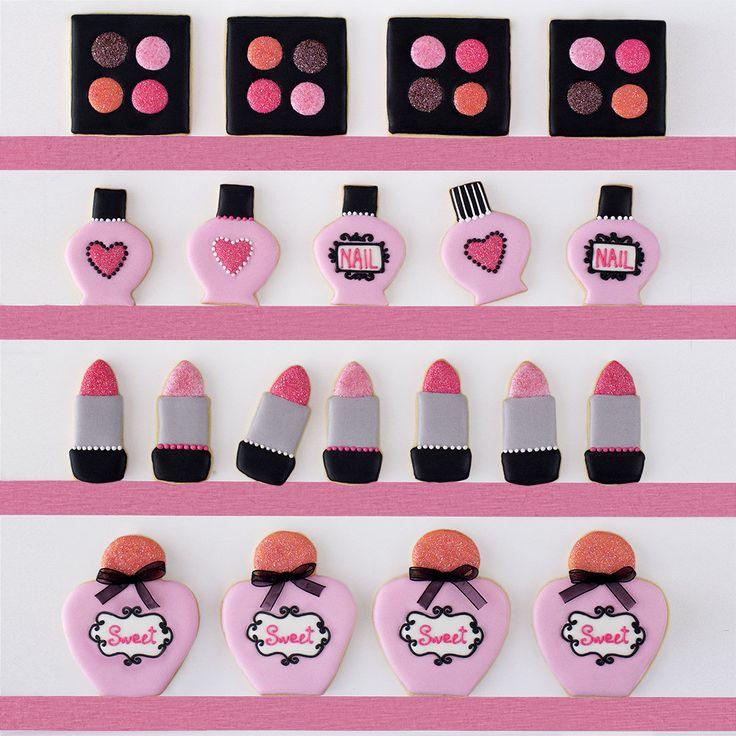 Postreadicción galletas decoradas, cupcakes y cakepops: Galletas decoradas de maquillaje