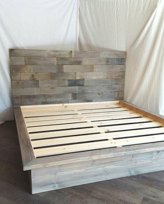 Kristopher Storage Bed Etsy In 2020 Diy Platform Bed Wooden Platform Bed Platform Bed Designs