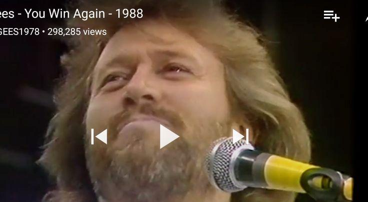 Barry Gibb smiling-1988 70th Birthday Celebration Concert for Nelson Mandela, Wembley Arena, England.