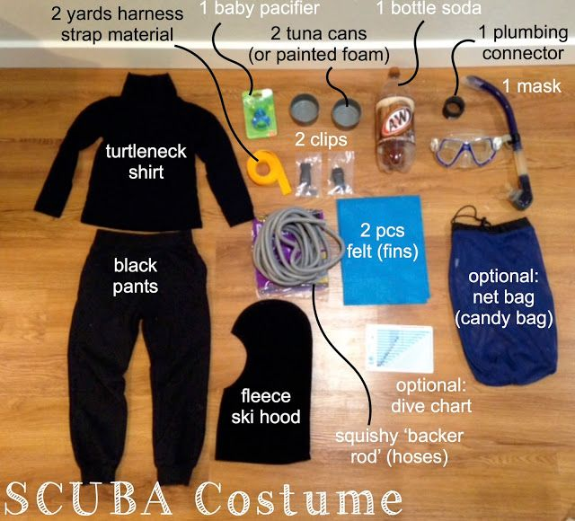 Scuba diver costume tutorial for adults and kids