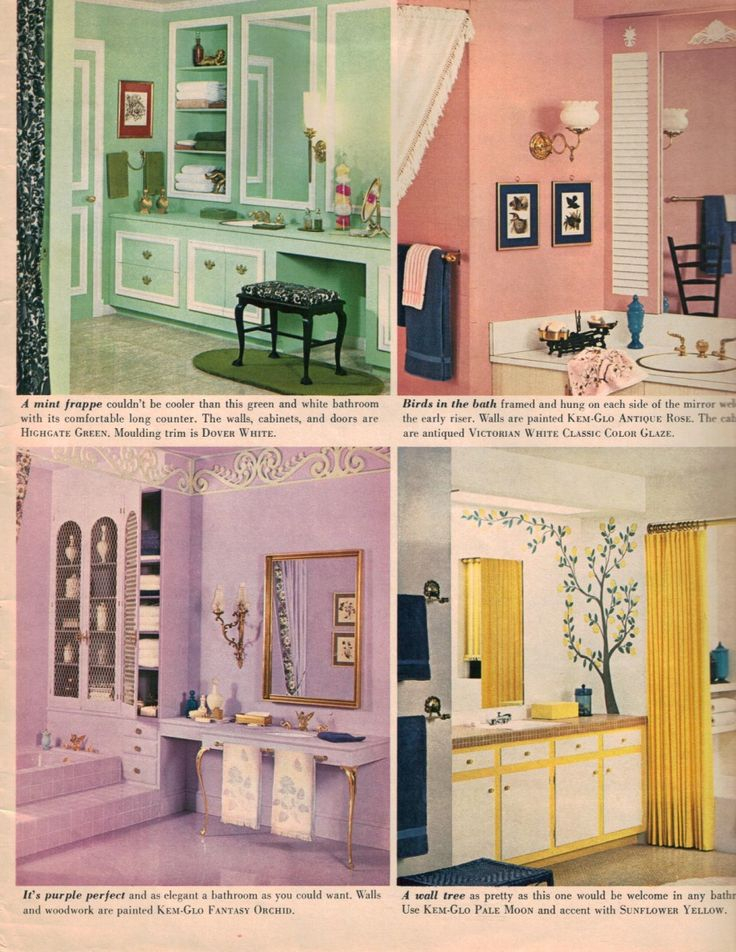Yellow And White Bathroom Decorating Ideas 98 best 1970's bathroom images on pinterest | vintage interiors