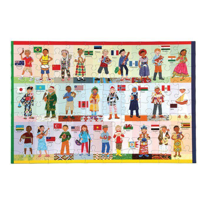 Puzzle - Děti z celého světa 100 dílků