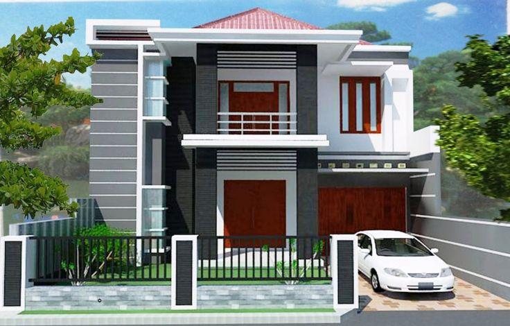 Desain rumah minimalis 2 lantai Modern Terbaik