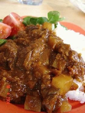 Curry Rice without Curry Rue カレールウに負けないカレーライス