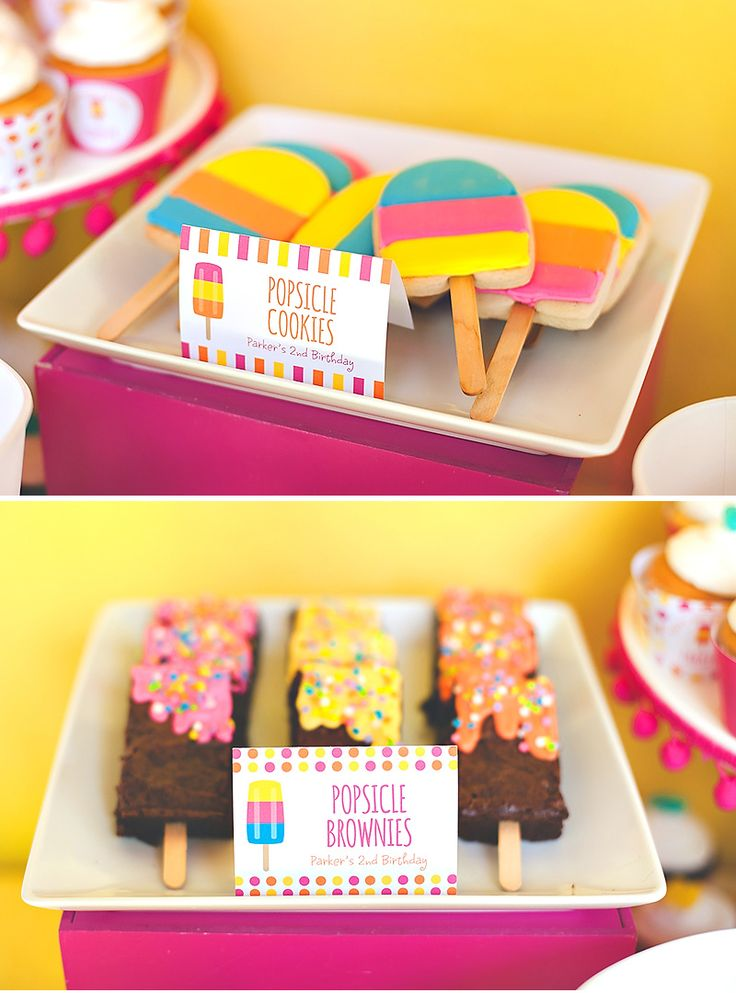 Bright & Modern Popsicle Pool Party {2nd Birthday