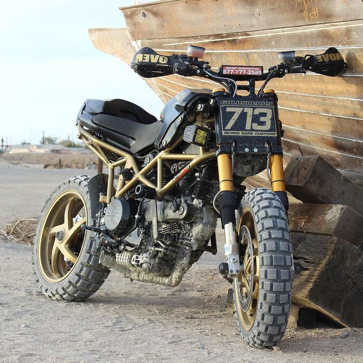 "On BikeBound.com: ""Project Multipass"" Ducati Multistrada #scrambler by @behindbarscustoms."