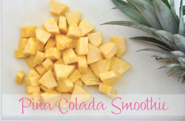 Piña Colada Smoothie: Get caught in the rain with our refreshing Piña Colada Smoothies made with DairyPure milk and fresh pineapple! Kick back, relax and feel like you are on vacation with the entire family with our non-alcoholic recipe! Made with only four ingredients: fresh pineapple, DairyPure milk, cream of coconut and ice!