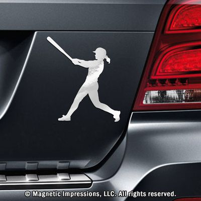 Buy Softball Batter Swing Car Magnet and show off your batting skills. Softball Batter Car Magnets make great motivational Gifts for Softball Players and teams. This product is made in the USA.