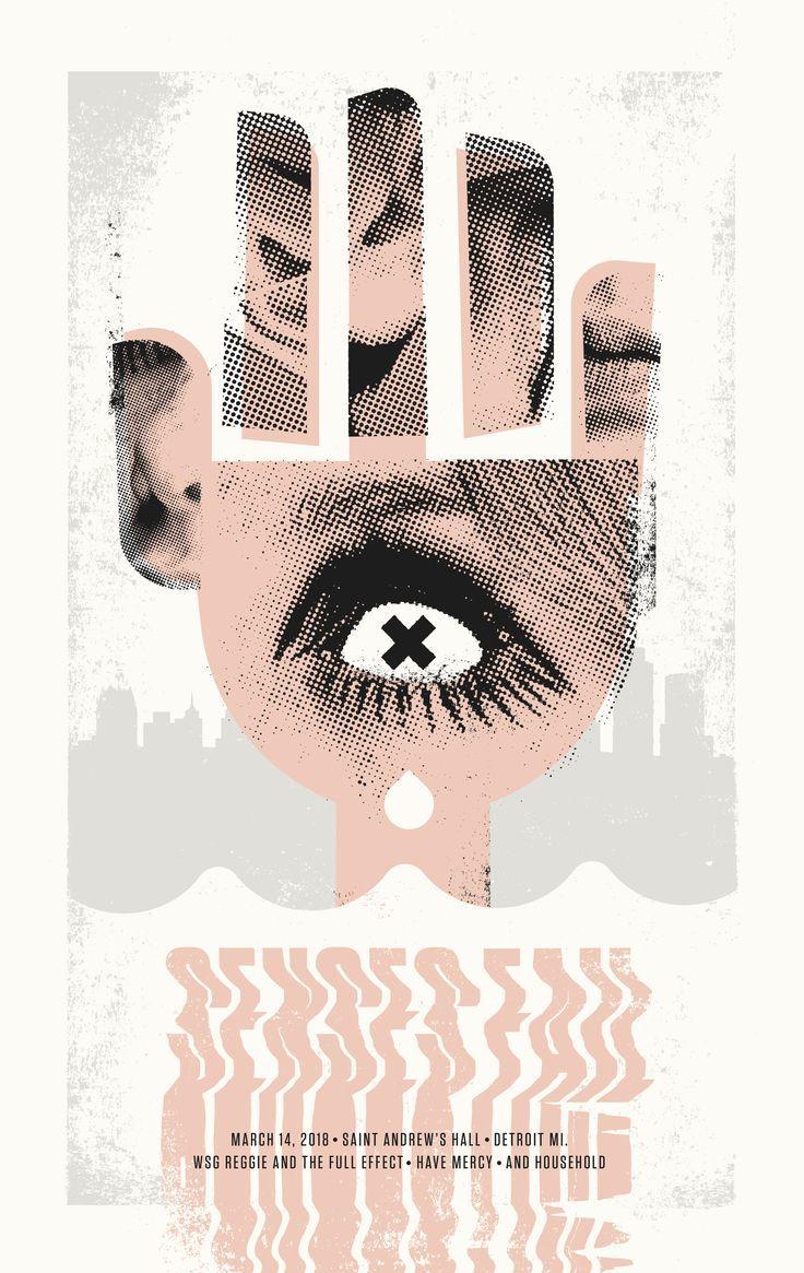 Senses Fail poster for Saint Andrew's Hall Detroit, MI created by Jacob Rosenburg