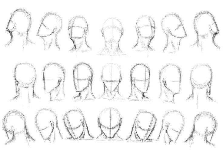 Como desenhar Cabeças e Faces do rosto           Durante parte da minha vida, para eu conseguir uma estrutura melhor de c...