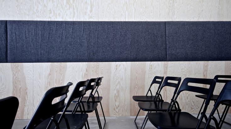 FeltRoll sound absorber from Rom & Tonik. 100% wool. www.rom-tonik.no