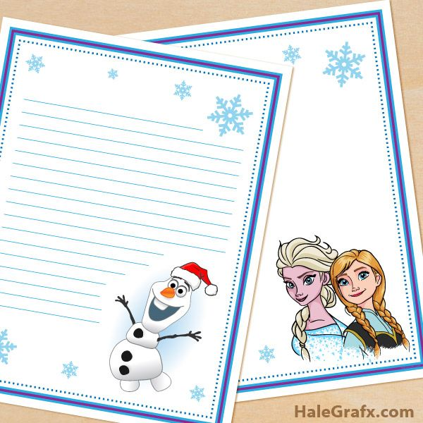 FREE Printable Frozen themed Stationary